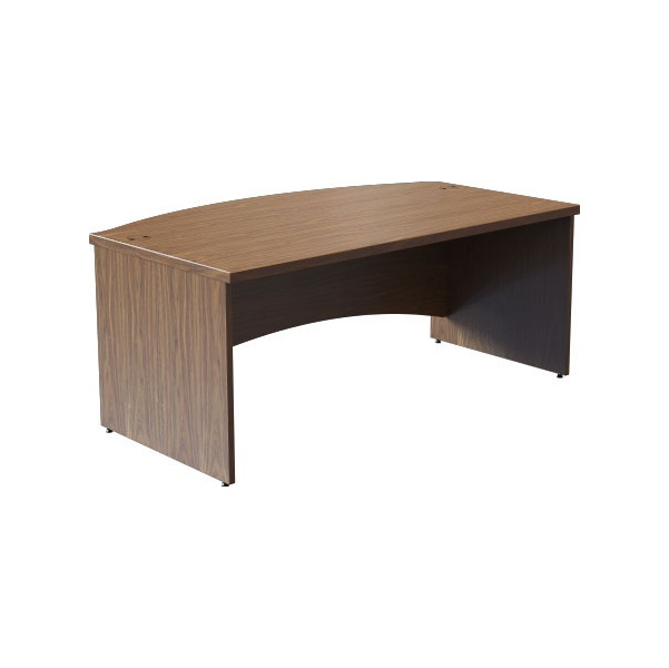 Accent Real Wood Veneer Rectangular Bow Front Desk