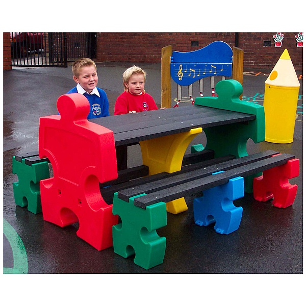 Outdoor Jigsaw Table & Bench Sets