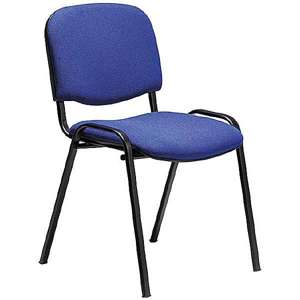 Swift Black Frame Conference Chair - Blue Fabric