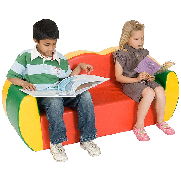 Block Colour Childrens 2 Seat Sofa