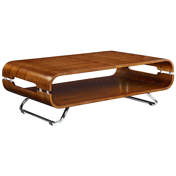 Spectrum Real Wood Veneer Curved Coffee Table Waln