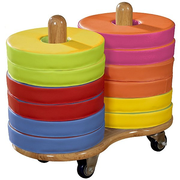 12 Donut Floor Cushions & Trolley