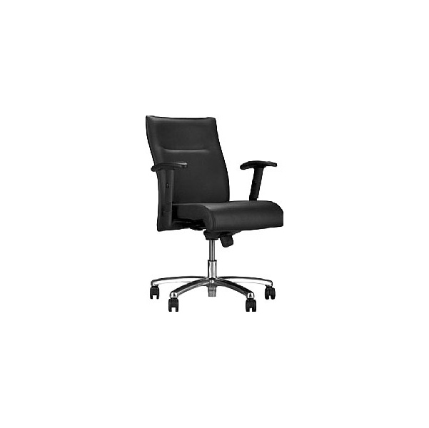Neo Lux Leather Faced Low Back Executive Chair