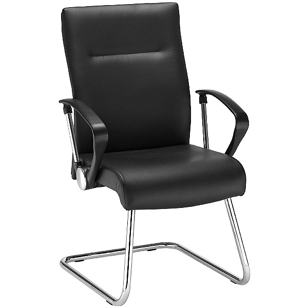 Neo Lux Leather Faced Cantilever Visitor Chair