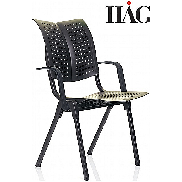 HAG Conventio Wing Chair 9811 With Arms Black