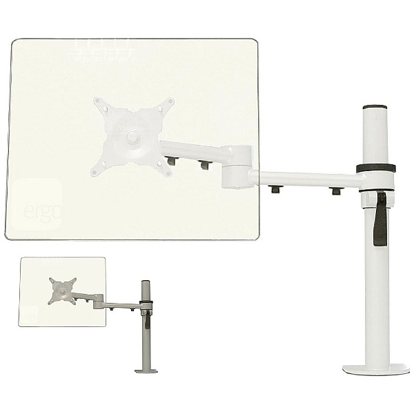 Stream Plus Dual Beam Monitor Arm Overview White