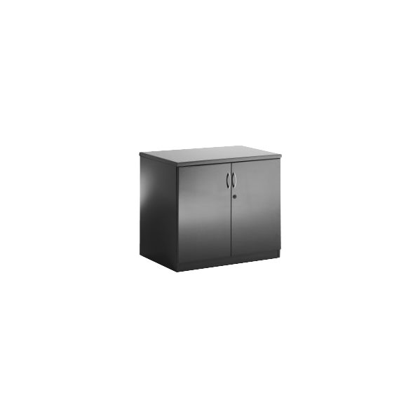 Black Luminosa Double Door Cupboard