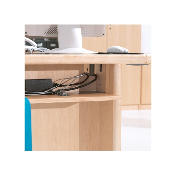 Corniche D-Ended Desk Wire Management Tray