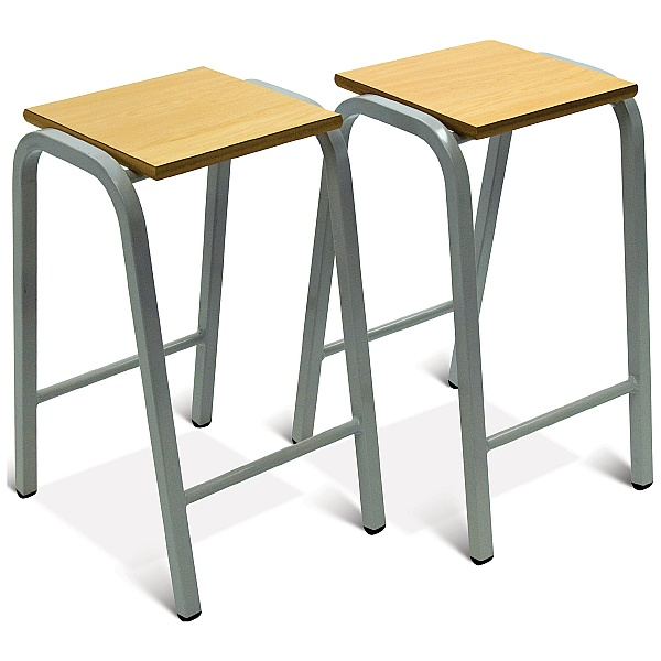 Heavy Duty Wooden Top Stools