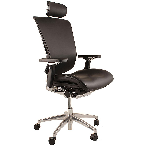 Nefil Ergonomic Leather Office Chair (With Headres