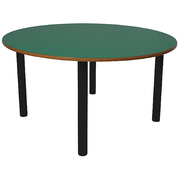 Scholar Heavy Duty Circular Cylinder Legged Tables