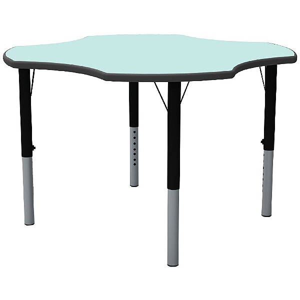 Height Adjustable Clover Pastel Theme Table