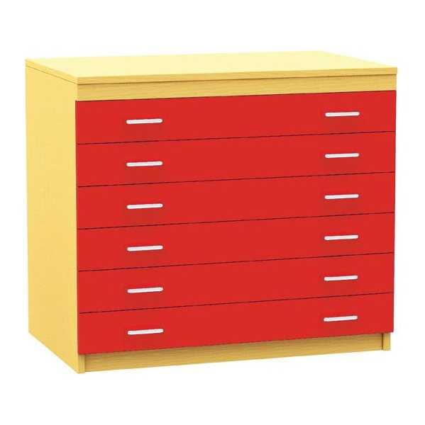 6 Drawer Mobile A1 Plan Storage Chest