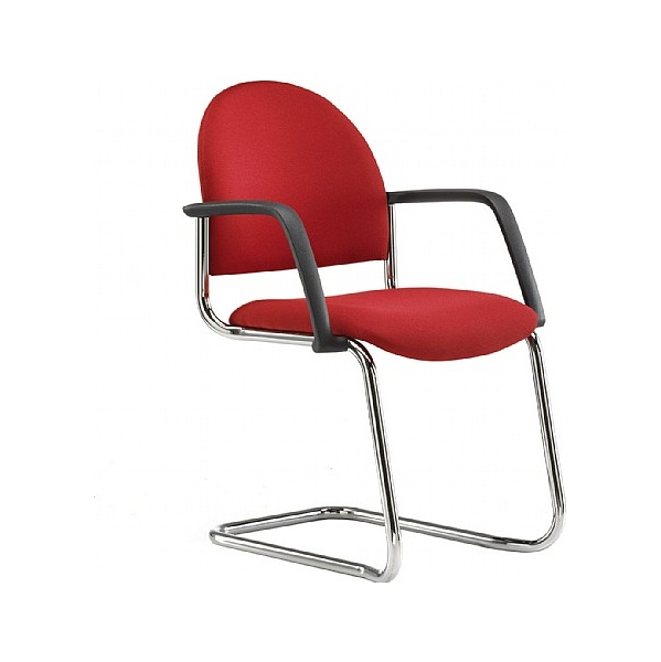 Pledge Arena Rounded Back Cantilever Chair Arms