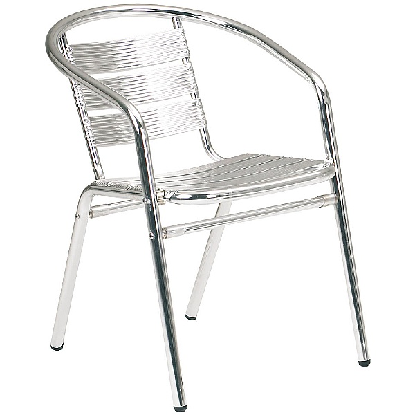 Aluminium Bistro Arm Chair