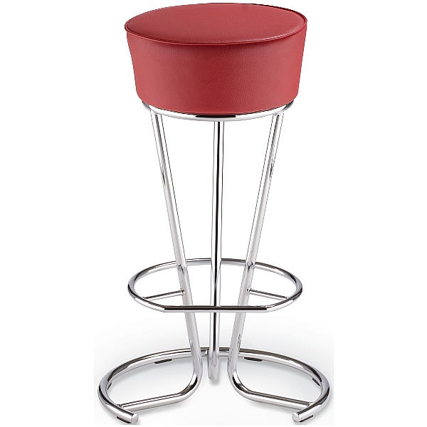 Pinacolada Faux Leather Bar Stool - Red