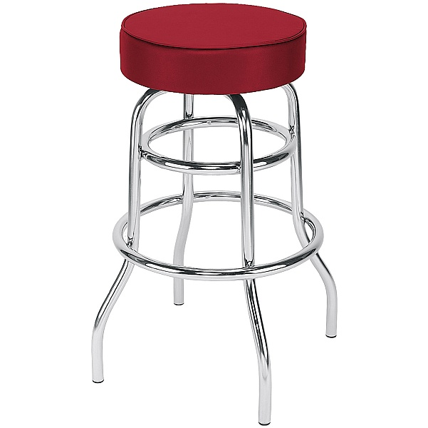 Retro Faux Velvet Bar Stool