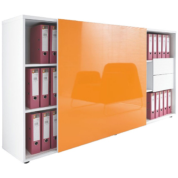Oxide Sliding Door Storage Cabinet