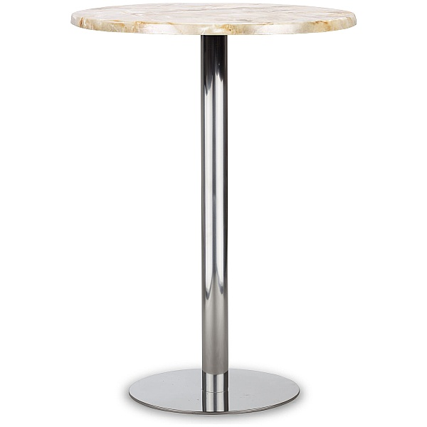 Lara Inox High Topalit Bistro Table - Onyx