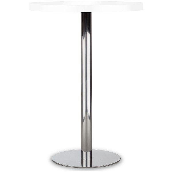 Lara Inox High White Melamine Bistro Table