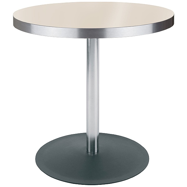 Lena Aluminium Edged Melamine Bistro Table - Maple
