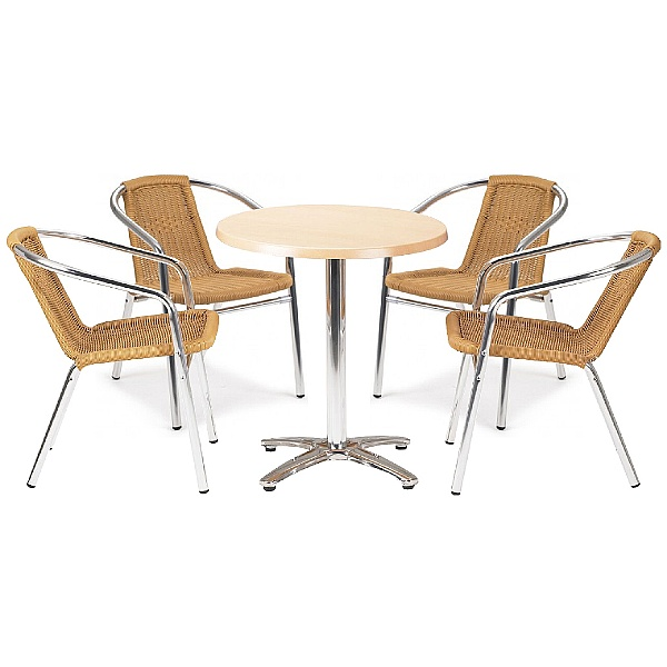 Casa Round Table and 4 Chairs Bundle Deal