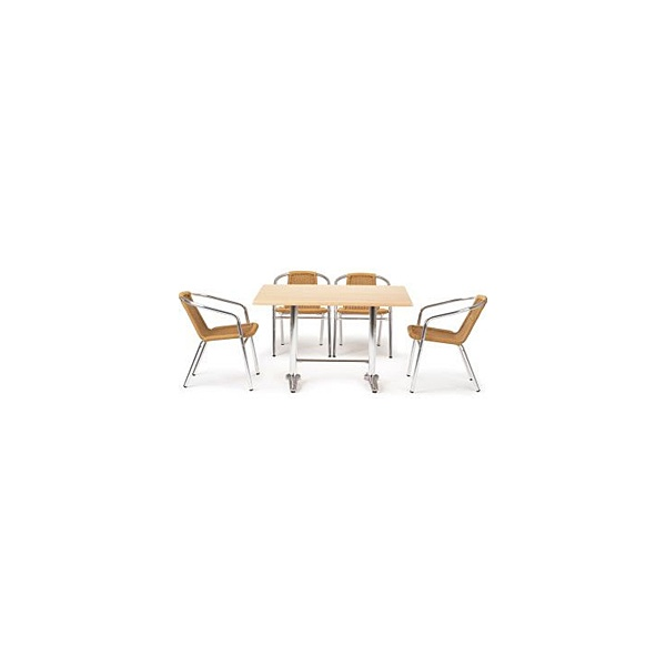 Casa Rectangular Table and 4 Chairs Bundle Deal