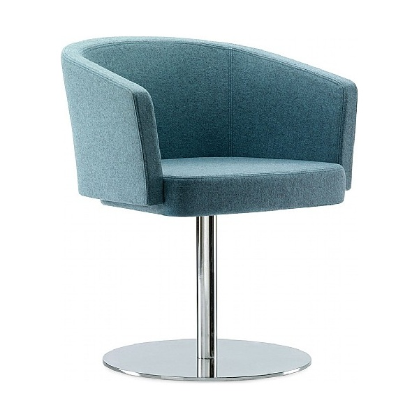 Pledge Zone Tub Chair With Round Pedestal Base
