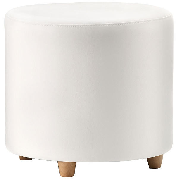 Pledge Box Round Stool With Wooden Feet