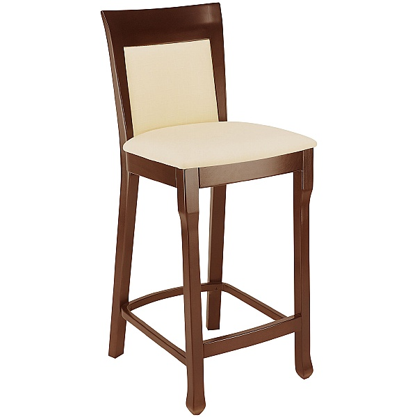 Lisbon High Upholstered Wooden Bistro Chair