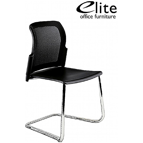 Leola Mesh Back Polypropylene Cantilever Chair