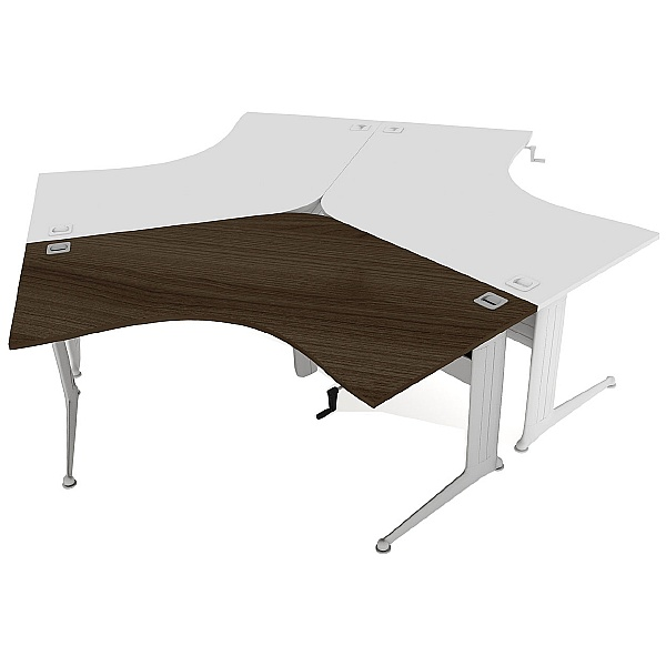 Elite Kassini Height Adjustable 120 Degree Desks