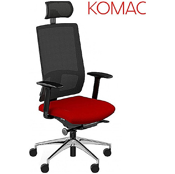 Komac Q Mesh Operator Chair With Headrest