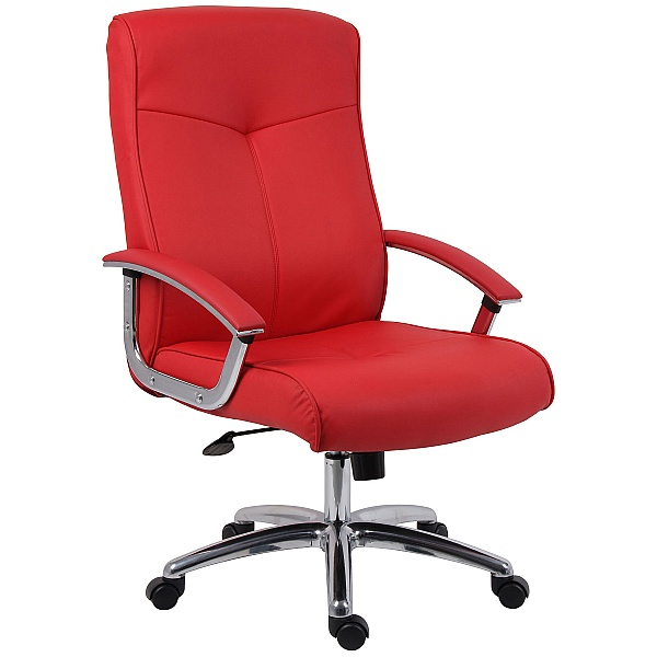 Brighton Red Leather Faced Manager Chair