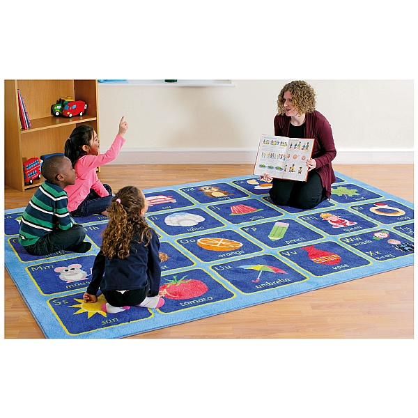 Large Alphabet Carpet Room