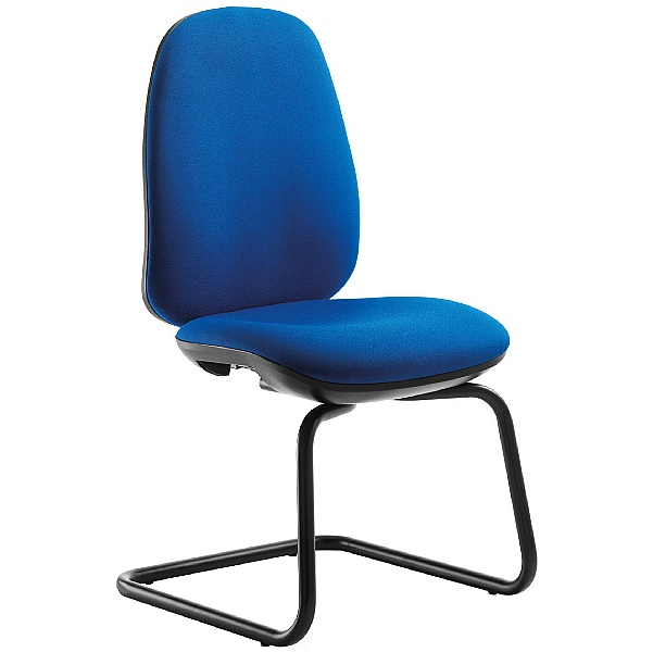 Tick High Back Cantilever Visitor Chair No Arms