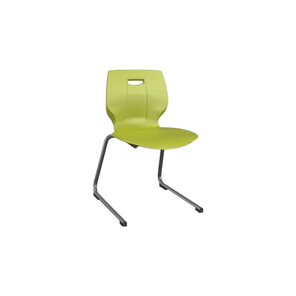 Scholar Reverse Cantilever Chair - Lime Green