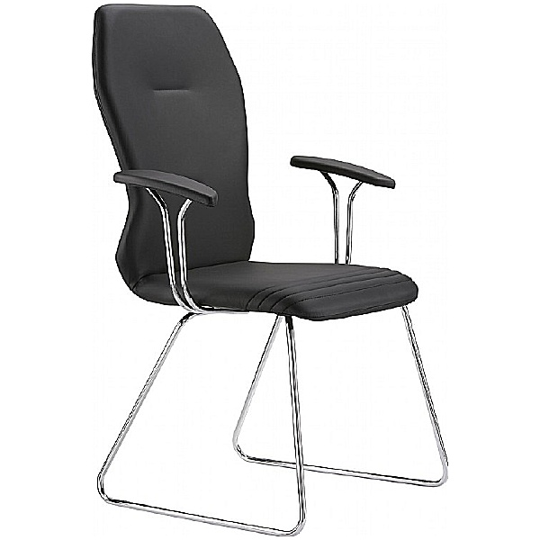 Grammer Office Galileo Leather Skid Base Side Chair