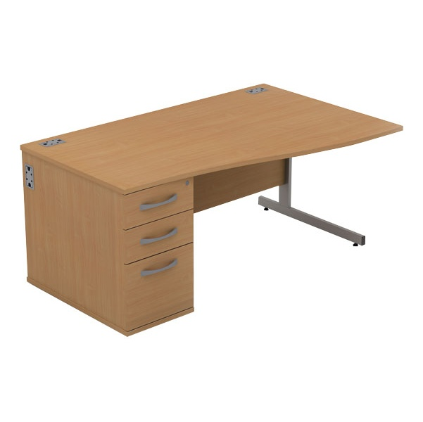 Alpha Plus Wave Combination Desk