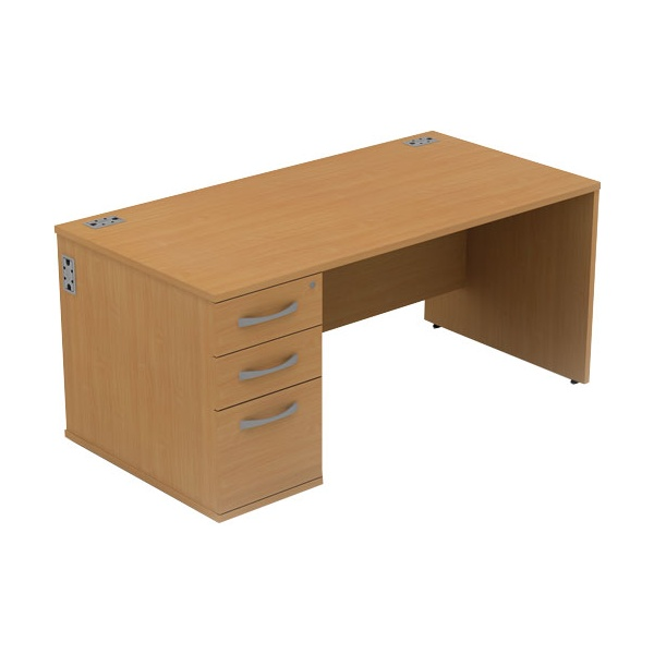 Alpha Plus Rectangular Panel End Combination Desk