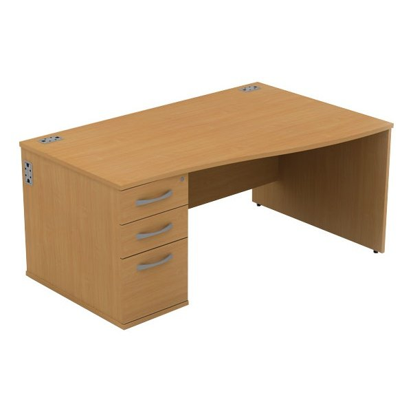 Alpha Plus Wave Panel End Combination Desk
