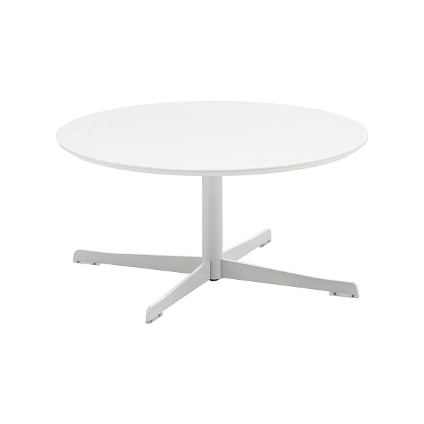 Dishy Round White Coffee Table White Star Base