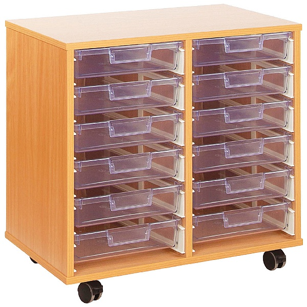 Crystal Clear 12 Shallow Tray Storage Unit