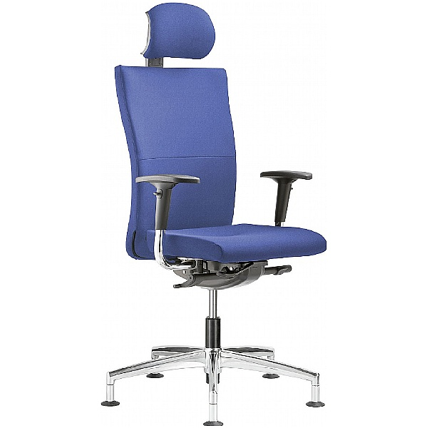 Grammer Office Extra Fabric High Back Swivel Conference Chair With Neckrest