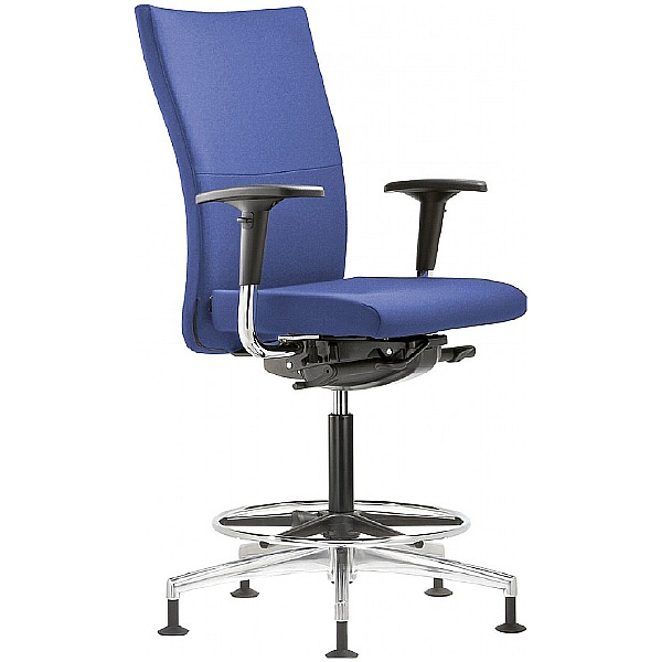 Grammer Office Extra Fabric High Back Ring Base Chair