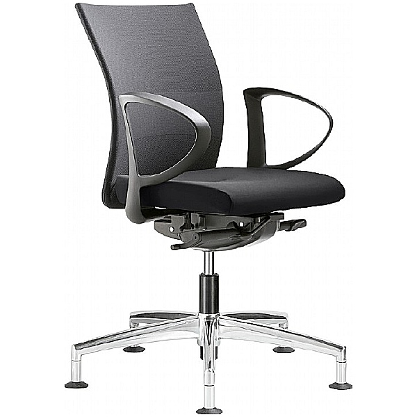 Grammer Office Extra Mesh & Leather Medium Back Swivel Conference Chair