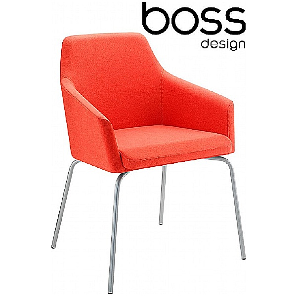 Boss Design Toto High Back Chrome Reception Chairs