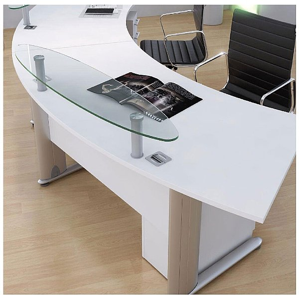 Elite Optima Plus Radius Reception Desks
