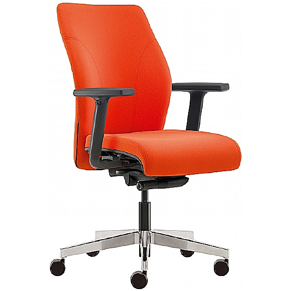 Pledge Tas Medium Back Custom Task Chair With Arms