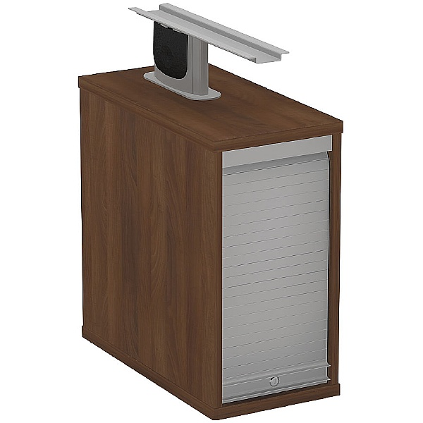 Protocol Shallow Lockable Tambour Support Pedestal